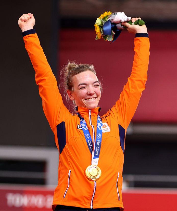 Goud: Shanne Braspennincx (baanwielrennen, keirin, vrouwen)