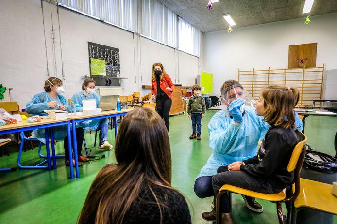 De testing gisteren in de school in Klerken