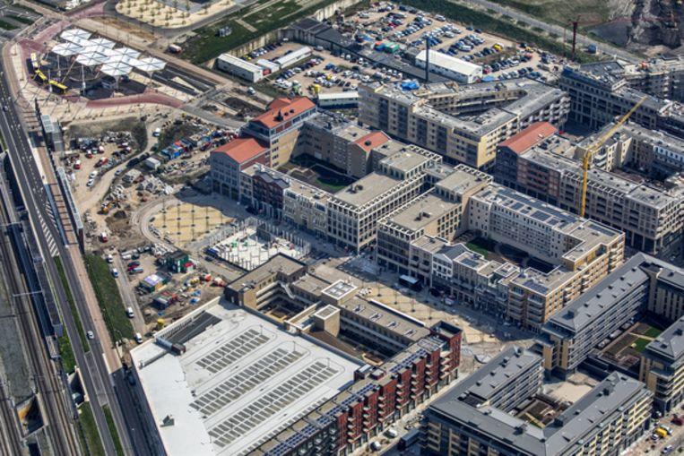 Het nieuwe winkelcentrum Leidserijn is zo goed als klaar. Beeld Raymond Rutting
