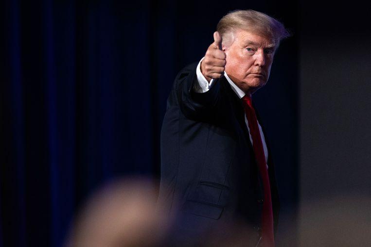 Donald Trump stapt naar de rechter om toegang tot zijn socialemedia-accounts terug te krijgen. Beeld AFP