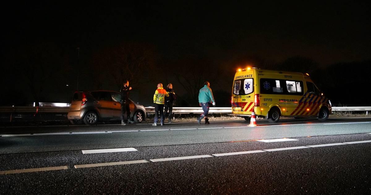 Gewonde bij ongeval op A12; file inmiddels verdwenen.