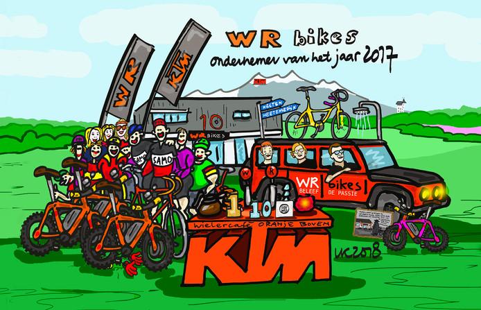 Haarlenaar Leo Kemper maakte een cartoon over de winnaar.