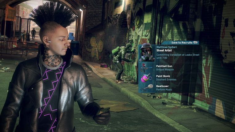 Van iedereen kun je in Watch Dogs:Legion nagaan of bereid zijn om in opstand te komen tegen Big Brother. Beeld Ubisoft