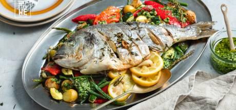 Wat Eten We Vandaag: Geroosterde dorade met gepofte groentes en krieltjes