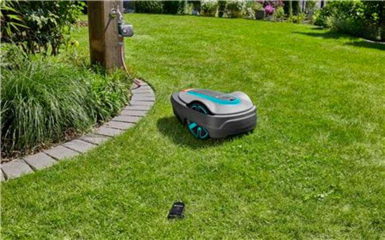 De slimme robotmaaier van Gardena. Beeld Gardena
