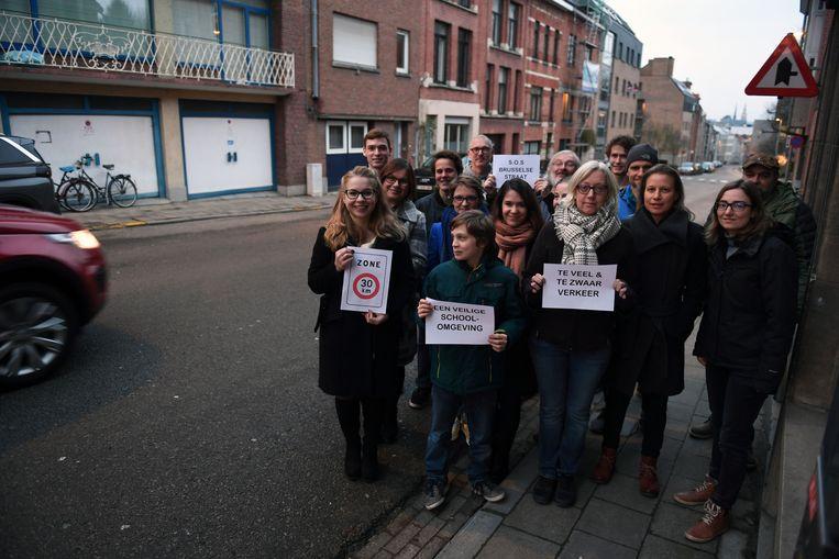In het verleden werd er al vaak geprotesteerd tegen de snelheidsovertredingen in de  Brusselsestraat.