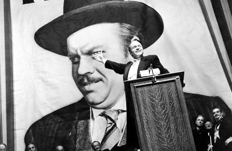 Orson Welles in Citizen Kane. Beeld