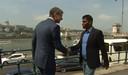 CNN-presentator Don Riddell (links) ontmoette Wilson Raj Perumar in Boedapest.