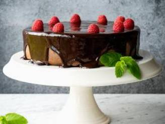 Chocoladetaart met romig chocoladeglazuur van Jeroen Meus