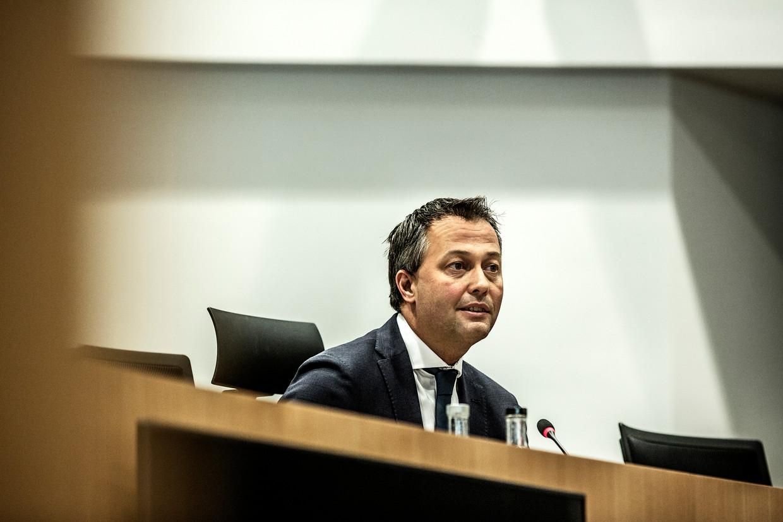 Open Vld-voorzitter Egbert Lachaert wordt preformateur, samen met zijn sp.a-collega Conner Rousseau. Beeld Franky Verdickt