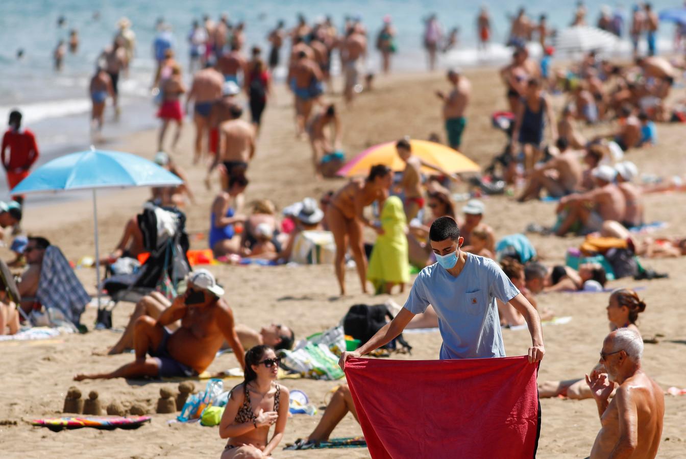 Een strand in Gran Canaria vorige zomer.