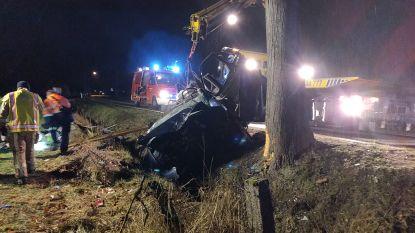 Auto belandt naast de baan in Hamont-Achel: dode en twee gewonden