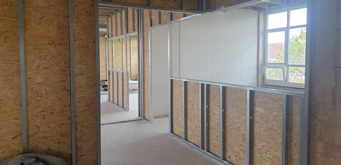 In het B-blok worden innovatieve ruimtes gebouwd.