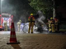 Auto zwaar beschadigd door brand in Wijchen