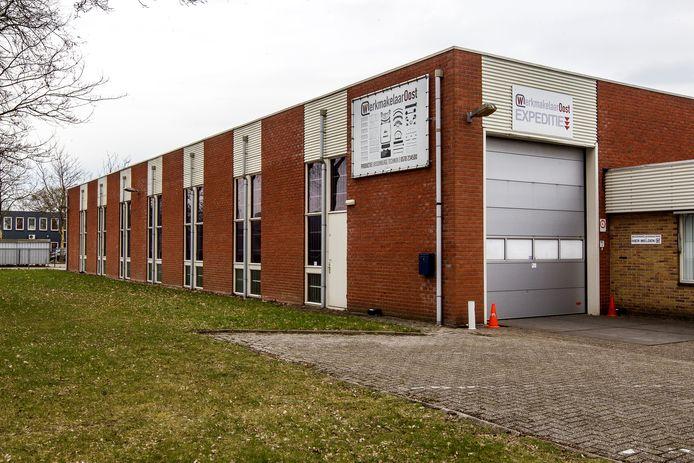 De productiehal van Werkmakelaar-Oost op bedrijventerrein Kloosterlanden, in het zuiden van Deventer.