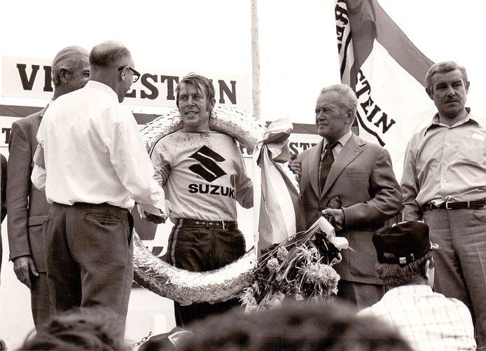 De Belg Roger DeCoster wordt op 22 augustus 1971 wereldkampioen in Sint Anthonis.