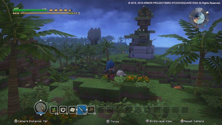 Bouwen is tegelijkertijd een gameplaymechaniek en een narratief thema in Dragon Quest Builders. Beeld Square Enix