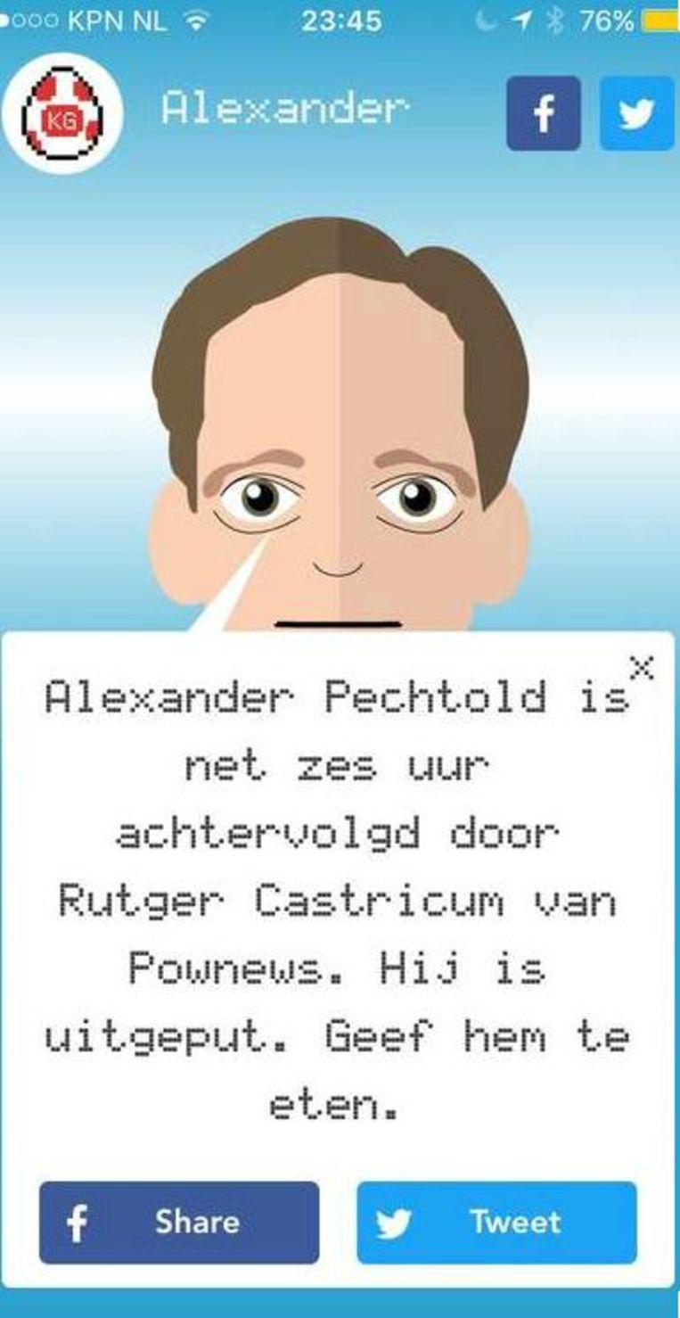 Kamergotchi Alexander Pechtold Beeld Trouw