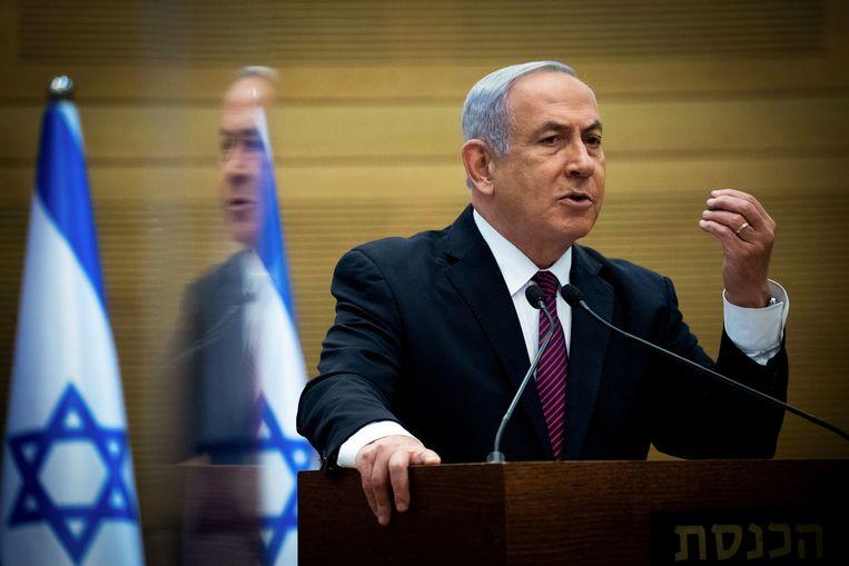 De populariteit van Netanyahu's Likud-partij is het afgelopen jaar flink gedaald.  Beeld Reuters