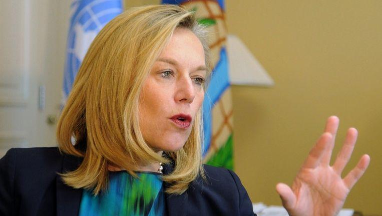 Sigrid Kaag, speciale coördinator van de VN/OPCW-missie tot het ontmantelen van Syrische chemische wapens. Beeld AFP