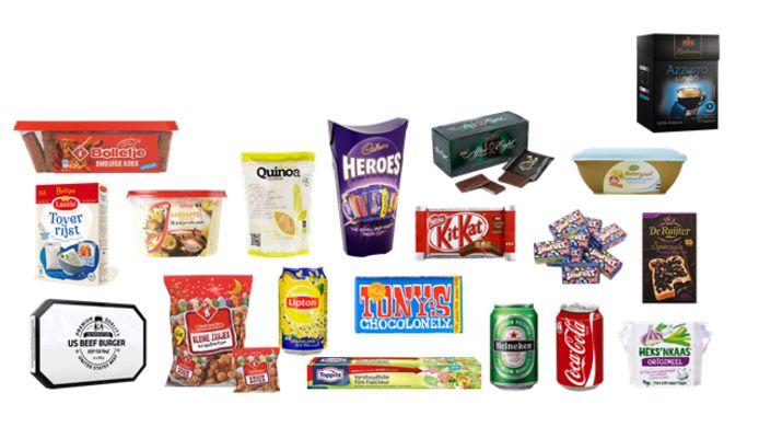 Een selectie van verpakkingen die in Oss worden gemaakt.