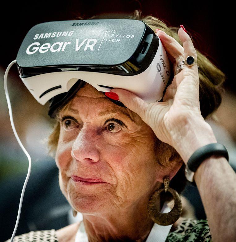 Neelie Kroes bij Startup Fest Europe in de Beurs van Berlage Beeld anp