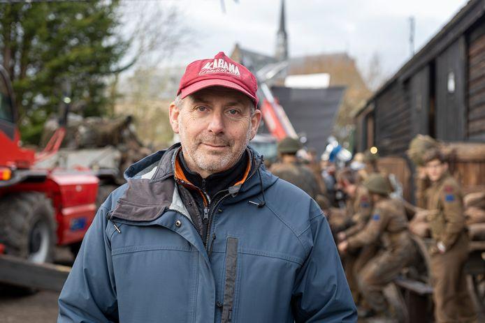 Producent Alain de Levita tijdens opnames voor de film in Brouwershaven.