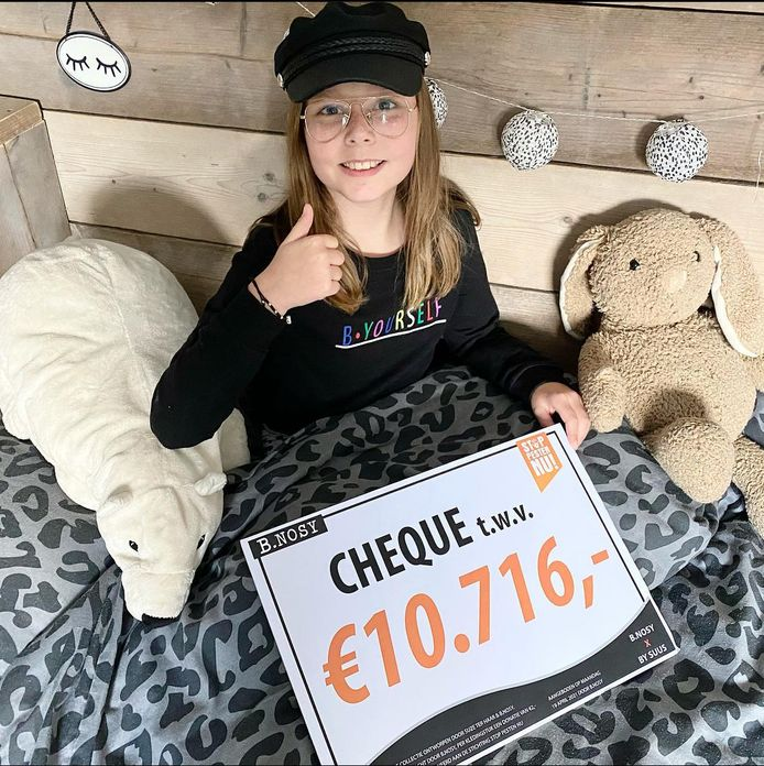 Suze ter Haar uit Spakenburg haalde meer dan 10.000 euro op voor Stop Pesten Nu.