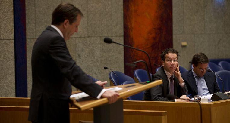 D66-leider Pechtold voor het katheder Beeld null
