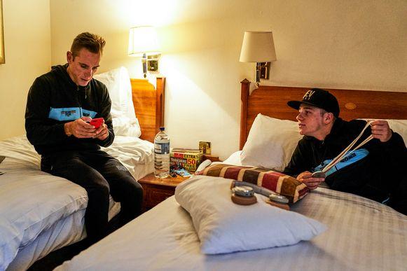 Philippe Gilbert en Remco Evenepoel deelden op het WK wielrennen in Yorkshire een kamer.