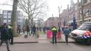 Protest op het Faberplein.