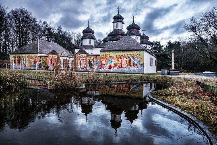 De Oekraïens-orthodoxe kerk in Genk.  Beeld Tim Dirven