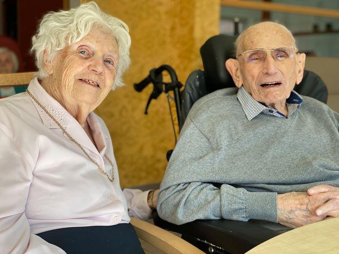 Yvonne en Emiel, vandaag 78 jaar getrouwd en daarmee het langst gehuwde koppel in Vlaanderen