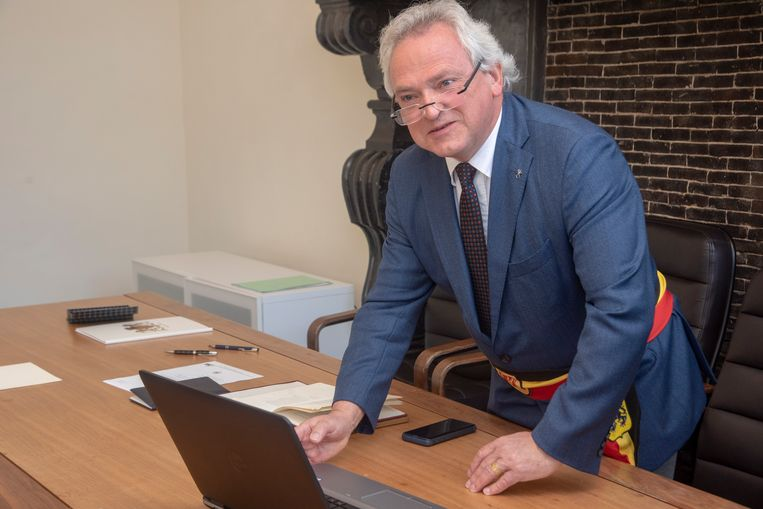 Burgemeester Ignace De Baerdemaeker.