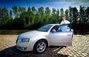 Enrico Kind met zijn Audi