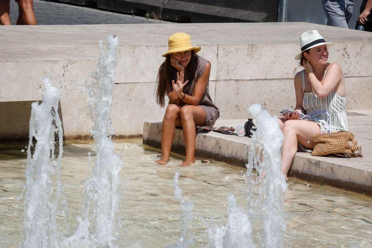 Een fontein in Rome. Beeld EPA