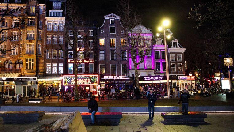 Een zaterdagavond op het Rembrandtplein. Beeld ANP