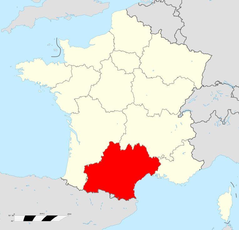 De regio Languedoc-Roussillon-Midi-Pyrénées. Beeld Creative Commons 4.0