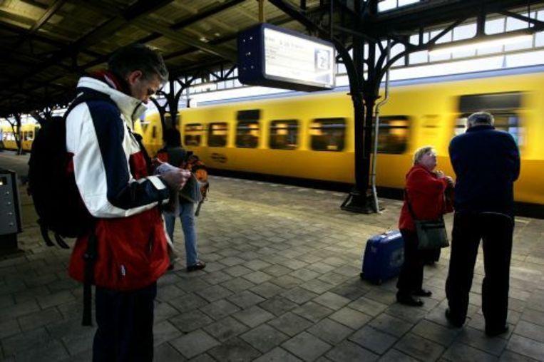 Minder mensen dan gebruikelijk reisden zaterdag met de trein. ANP Beeld