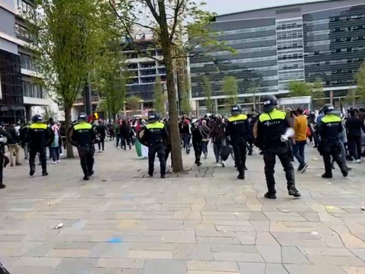 Pro-Palestina-demonstratie in Utrecht loopt uit de hand