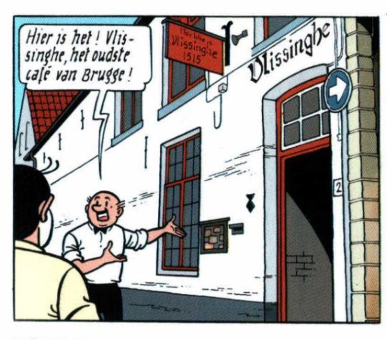 Lambik heeft wil zin in een pintje in het oudste café van Brugge.