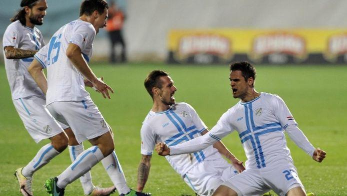 Andrijasevic viert een van zijn 18 goals voor Rijeka.