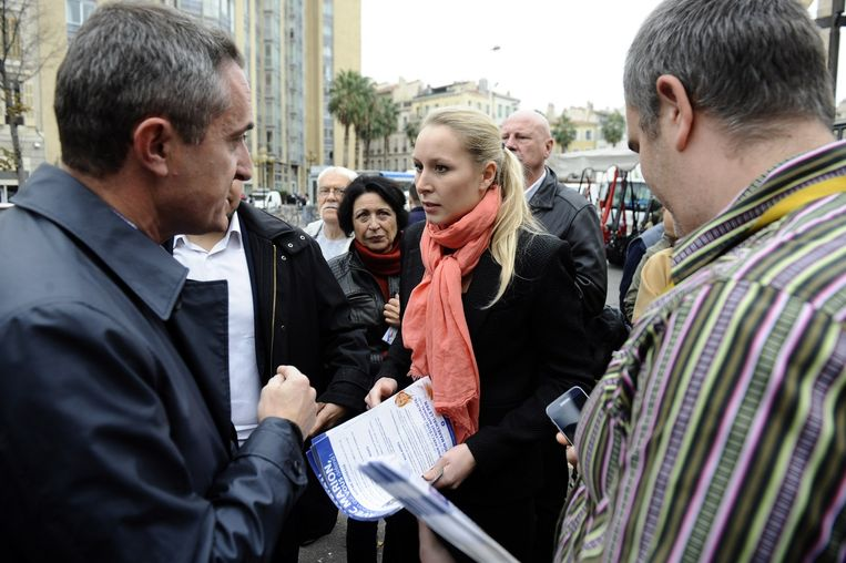 Marion Maréchal-Le Pen flyert in háár bolwerk, Marseille. Beeld AFP