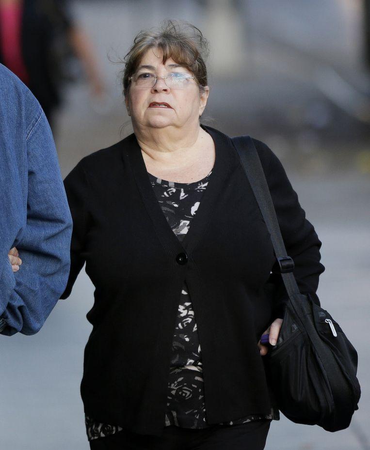 Annette Bongiorno vorig jaar oktober bij de rechtbank in New York. Beeld AP