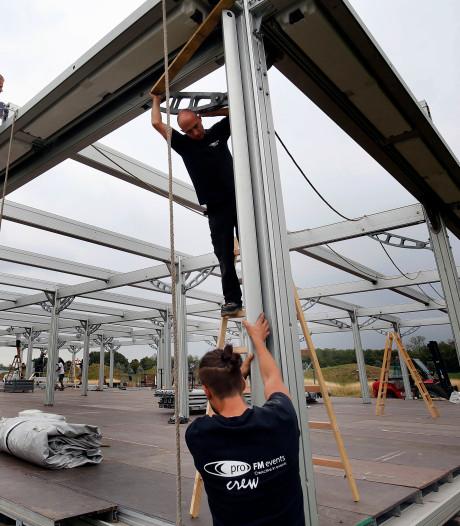 Voorbereidingen op golfbaan The Dutch in Spijk in volle gang voor KLM Open