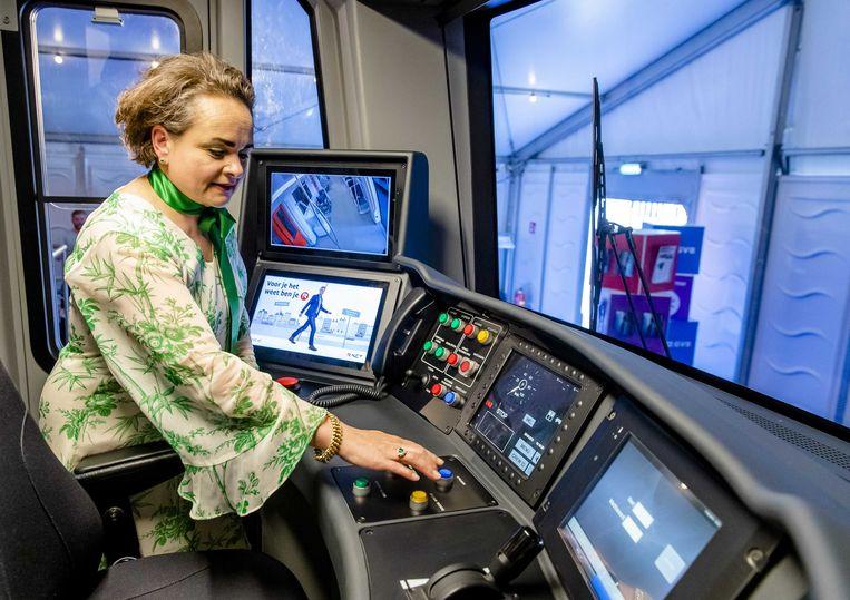 Alexandra van Huffelen was sinds 2014 algemeen directeur van het GVB. Beeld ANP