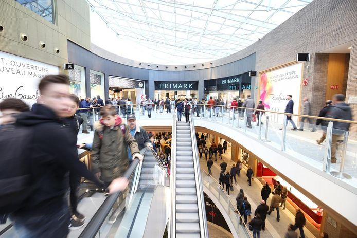 Le centre commercial Rive Gauche à Charleroi.