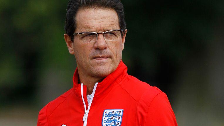 Fabio Capello roept liefst 25 namen op voor het oefenduel met Oranje. Beeld AP