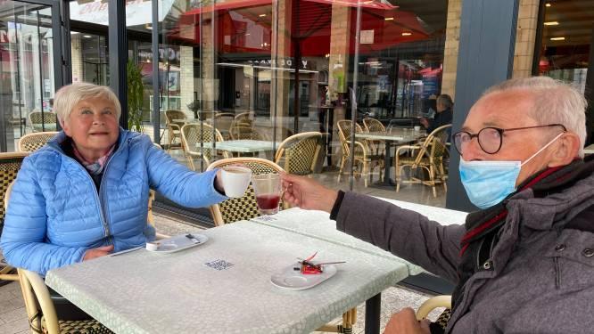 """Ook in Vilvoorde terrasplezier: """"Als je teveel rekening houdt met regen kan je niets doen in België"""""""