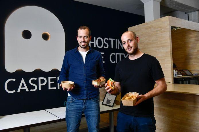 Matthias Laga en chef Elias Albrecht in Gent. Het concept komt ook naar Brugge.